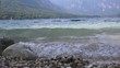 Ungraded waves of lake Bohinj. Popular tourist travel destination in Slovenian national park Triglav.