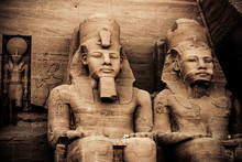 Immense Sculptures In The Stone At Abu Simbel #1