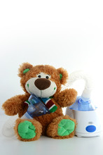 Teddy Bear And Nebulizer Or In...