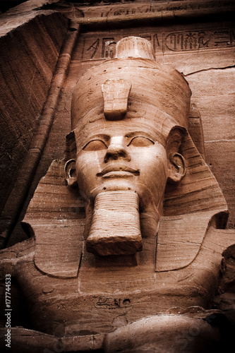 Fotografie, Obraz Immense sculptures in the stone at Abu Simbel #2