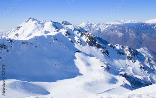 Plakat naturalne góry krajobrazowe