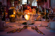 Weingläser Weißwein bei Hochzeit