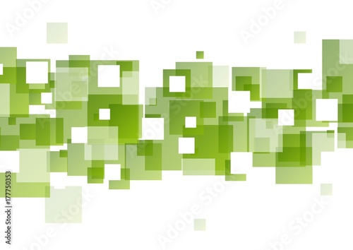 Photo sur Toile Pixel Tech geometric background with green squares