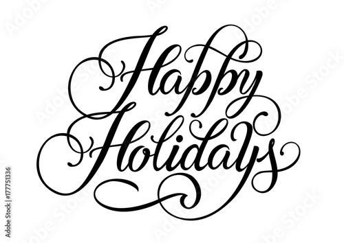 Fototapeta Happy holidays lettering