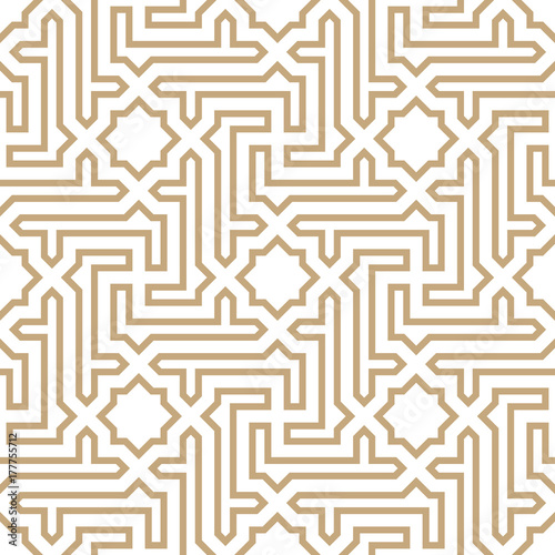 Photo arabic geometric seamless ornament pattern