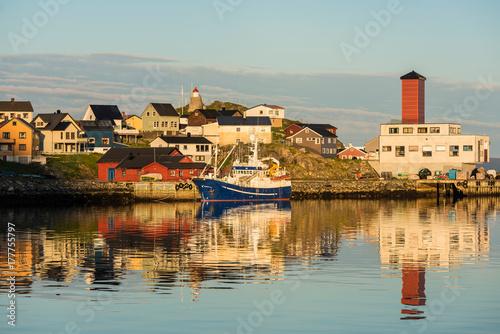 Port of Honningsvag in Finmark, Norway.