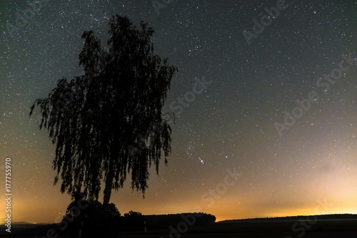 Fototapeta Gwiaździste niebo i mlecznej w lecie, Bawaria, Niemcy