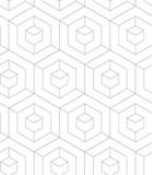 REGULAR GEOMETRIC SEAMLESS VECTOR PATTERN. MODERN STYLIST TEXTURE WITH MONOCHROME TRELLIS. REPEAT GRID BACKGROUND - 177762503