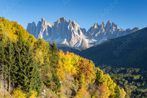 Zdjęcie XXL Jesień w Alps Dolomitach, Włochy