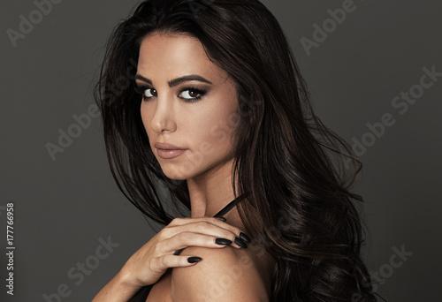 Fotografia, Obraz  Portrait of beautiful girl with glamour makeup.