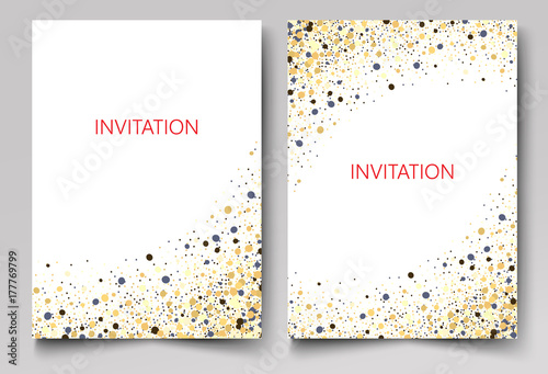 Obraz Save the Date Collection with Confetti Design - fototapety do salonu