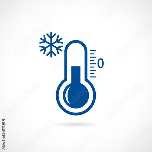 Fotografie, Obraz  Cold thermometer vector icon
