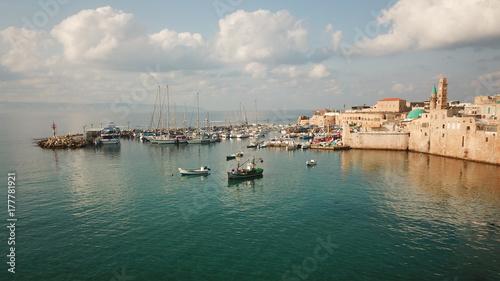 Plakat Wioska rybacka nad Morzem Śródziemnym