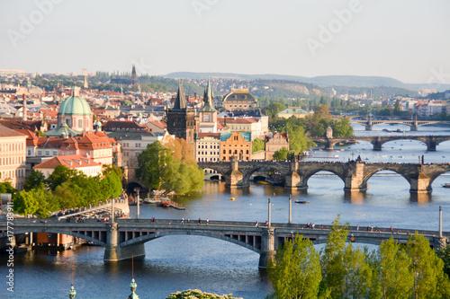 Fototapeta Bridges in Prague obraz na płótnie