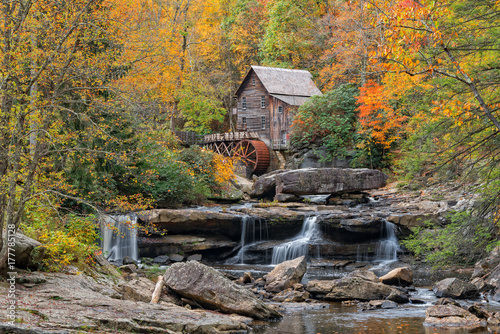 Glade Creek Grist Mill In West Virginia Fototapet
