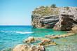 rocks on island of St. Nicholas, Montenegro