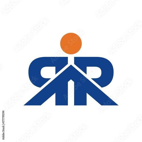 Rr Figure Logo Initial Letter Design Template Vector Acheter Ce