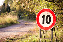 10 Speed Limit Sign In A Count...
