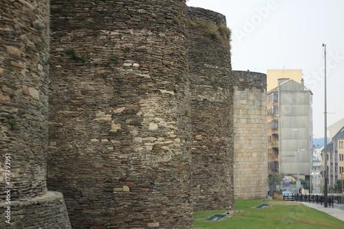 Muralla romana de la ciudad gallega de Lugo, situada en el norte de España