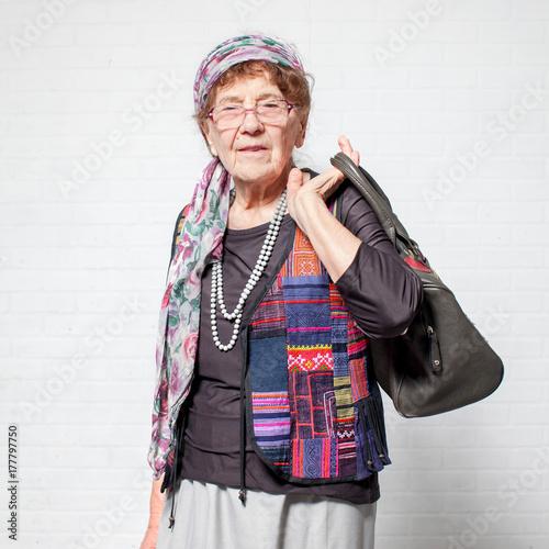 Plakat Starsza kobieta