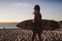 Woman Ready For Surfing