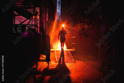 backstage light atmosphere Wallpaper Mural