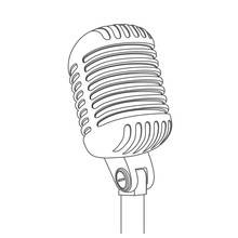 Concert Microphone Vector Silhouette