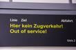 Schild kein Zugverkehr, Öffentlicher Personennahverkehr Berlin