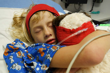 Girl Recovering After Surgery ...