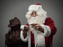 Santa Claus Checking Bills