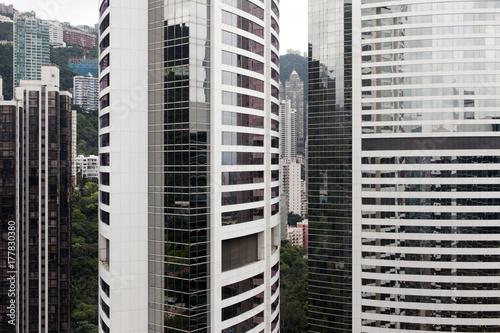 Obraz na dibondzie (fotoboard) Widok nowożytni drapacze chmur i budynki w Hong Kong mieście, Chiny