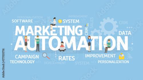 Marketing automation concept. Canvas Print