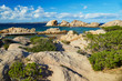 Scenic landscape of Emerald coast of Sardinia