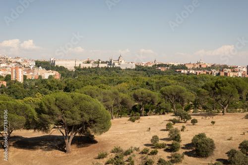 El centro de Madrid desde el teleférico de la Casa de Campo