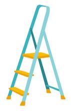 Folding Step Ladder. Vector Ca...