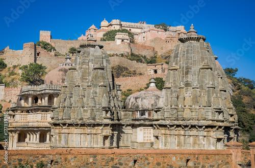Fototapeta Kumbhalgarh Fort w Rajasthan, jeden z największych fort w Indiach