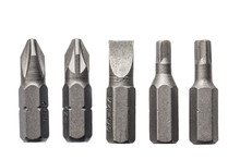 Screwdriver Bits Isolated On W...