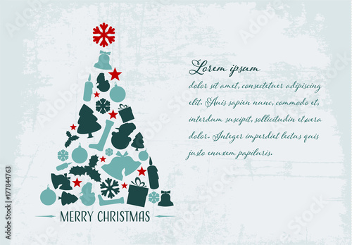 christmas card with grunge background 3 - Where To Buy Christmas Cards