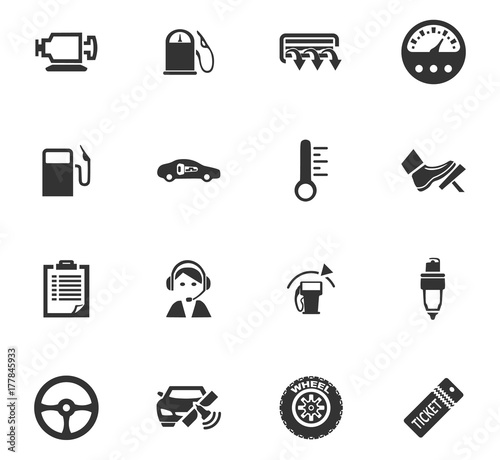 Auto icons set Wallpaper Mural