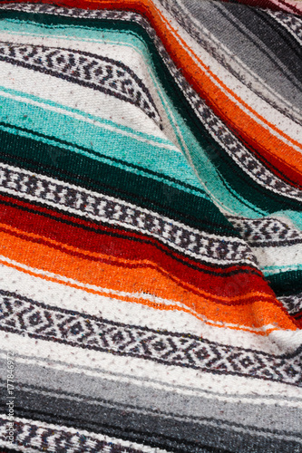 Photo  Mexican Wool Blanket