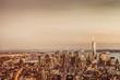 World Trade Center and New York City Skyline - Dusk