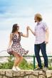 Couple having date outdoor