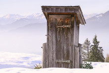 Old Outhouse In The Alps With ...