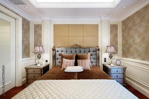 Fotodibond 3D wnętrze nowoczesnej sypialni