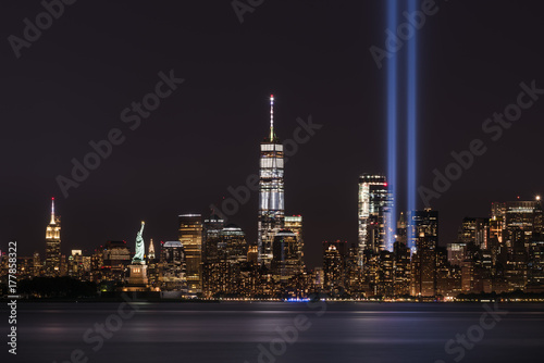 Canvas Prints New York Freedom Tower on September 11th Memorial
