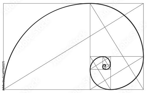 Foto  Vector golden ratio