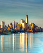 """Basking in Gold."" NYC Skyline. 1WTC. Freedom Tower. Sunrise from Hoboken"