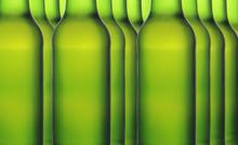 Close Up Of Green Beer Bottles