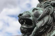 Lion Face Statue