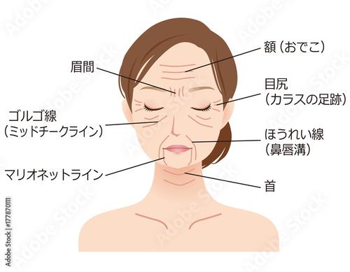 女性の顔 シワ 美容 Canvas-taulu